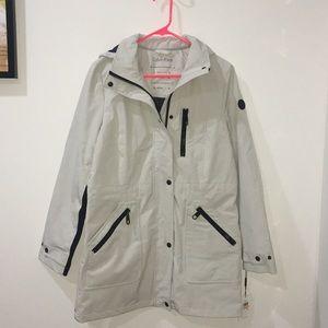 Small Light Grey/White Calvin Klein Rain Jacket